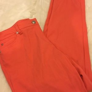 New Directions Coral  skinny pants sz 14